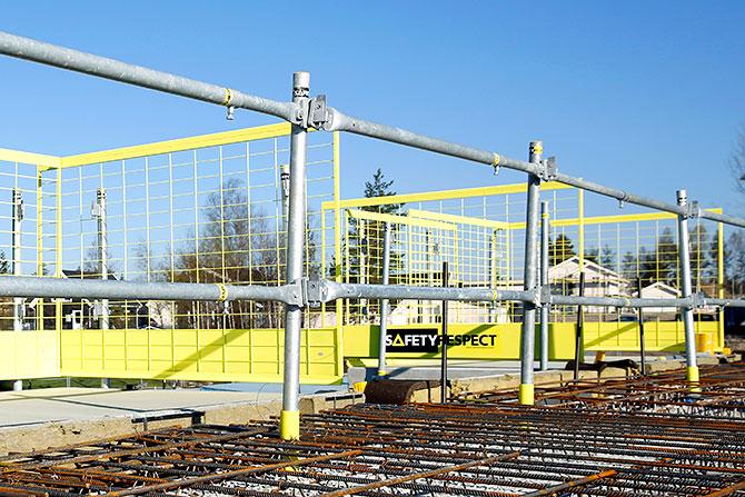 Hazır beton elemanların kullanıldığı ara kat yapılarında, kenar koruma soketleri elemanların üretimi sırasında beton sertleşmeden önce yerleştirilir ve bu elemanlar soketli şekilde monte edilerek daha güvenli ve hızlı çözüm elde edilir.