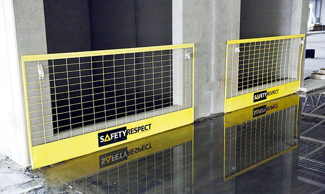 Duvar açıklıklarında duvar braketi ve bariyer - SafetyRespect